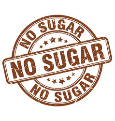 No sugar brown grunge stamp vector