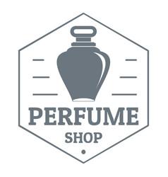 Perfume boutique logo vintage style vector