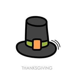 Pilgrim hat icon harvest thanksgiving vector