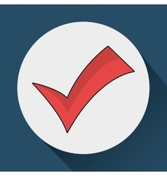 Red check mark vector