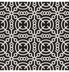 Seamless black and white geometric ethnic vector