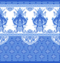 seamless border with decorative ethnic vector image vector image