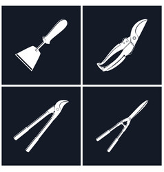 Set of agricultural tools vector