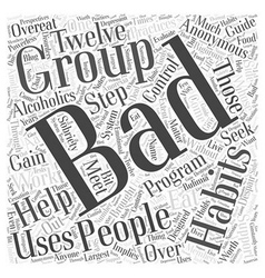 Support groups for people with bad habits word vector