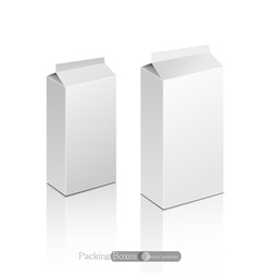 template white box isolated on a white background vector image