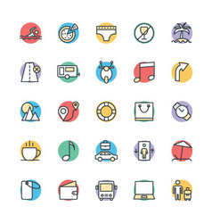 Travel Cool Icons 2 vector image vector image