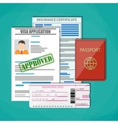 Travel documents concept vector