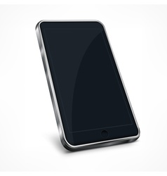 Mobile phone on white vector