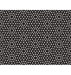 Seamless black and white hexagonal dashed vector