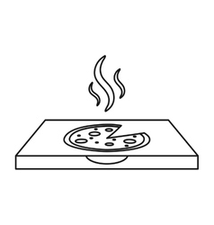 Pizza delivery box outline vector