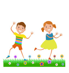Featuring dancing kids vector