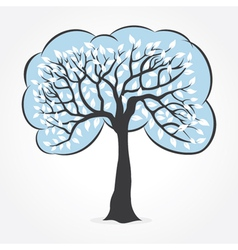 White leaf tree vector