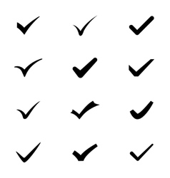 checkmarks vector image