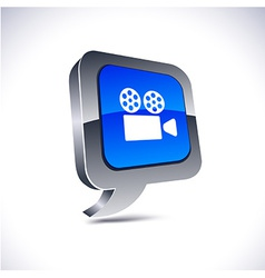 Cinema 3d balloon button vector