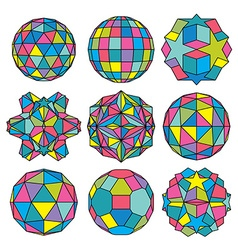 Collection of 9 complex dimensional spheres and vector