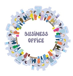Business people at the office - frame with many vector image