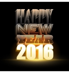 Happy new year 2016 holiday background with 3d vector