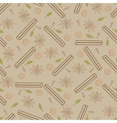 Contour spicy seamless pattern vector