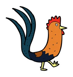 Comic cartoon cockerel vector