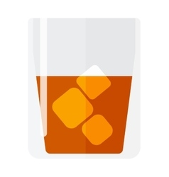 Whisky and ice cup vector