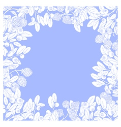 Berry square frame blue vector