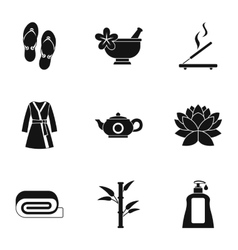 Beauty salon icons set simple style vector
