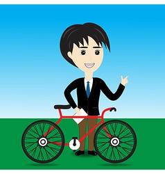 Bicycle Salesman vector image vector image