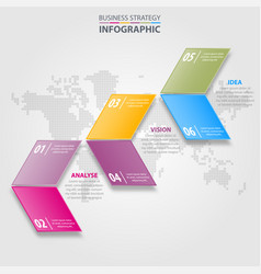 Business infographics strategy design elements vector
