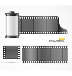 Camera film roll cartrige vector