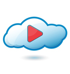 Cloud Play Icon Symbol vector image vector image
