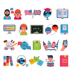 educational languages education school and travel vector image