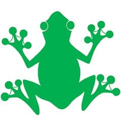 Green Frog Silhouette Logo vector image