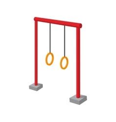 Gymnastic rings children cartoon icon vector