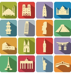 landmark set vector image vector image