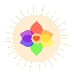 Lgbt pastel love symbol vector