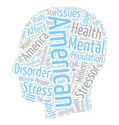 Mental health america 1 text background wordcloud vector