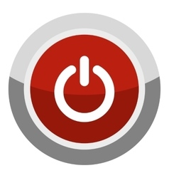 Power button icon cartoon style vector image