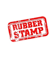 Rubber stamp vector image vector image