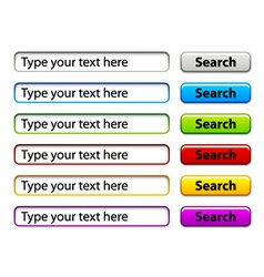search form template vector image