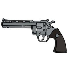Silver long revolver vector