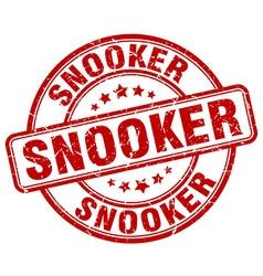 Snooker red grunge round vintage rubber stamp vector