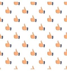 Thumbs up pattern cartoon style vector