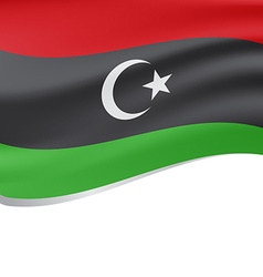 Waving flag of Libyan Republic isolated on white vector image vector image