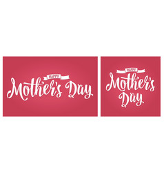 Happy mother s day lettering vintage vector