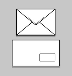 two white envelopes for identy design vector image