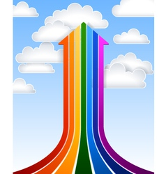 Rainbow arrow vector