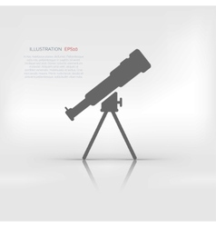 Telescope icon vector