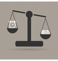 business scales vector image