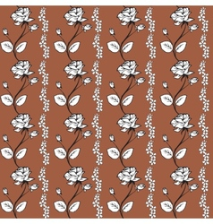 Roses on a brown background vector