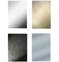 4 metal backgrounds vector image vector image